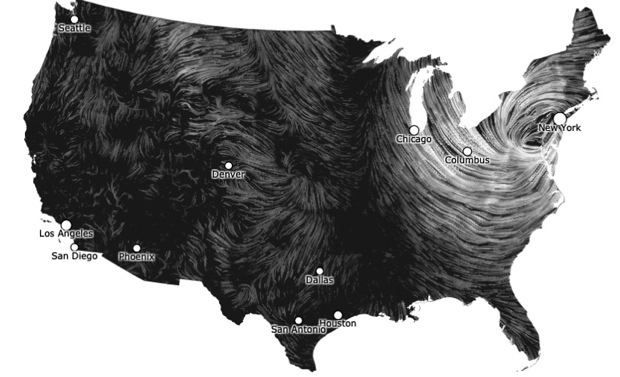 Wind Map to Visualize Hurricane Sandy